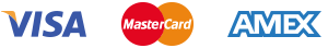 Accepted credit cards - VISA, MasterCard and AMEX